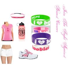 """""""Join the fight."""" by katwoachic on Polyvore. what r u doing to join the fight against breast cancer is it that ur giving money to help find a cure or is it your running if you are this is a perfect outfit or is it that your  just gonna wear pink . tell me what your doing for breast cancer awareness month. just comment below"""