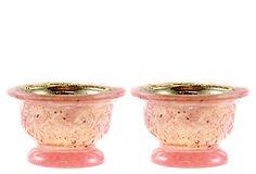 Star Mercury Glass Votives, Pink