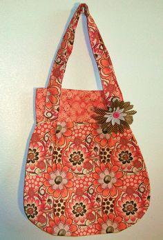 Adorable Double Strap Shoulder Hobo Bag with inside pocket. $25.00, via Etsy.