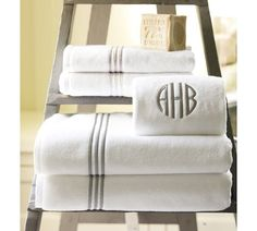 Grand Embroidered Towels - Pottery Barn