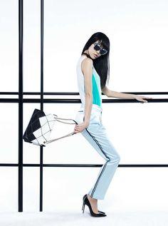 The Vogue China Modern Pastel Editorial is Angular #fashion #voguechina trendhunter.com
