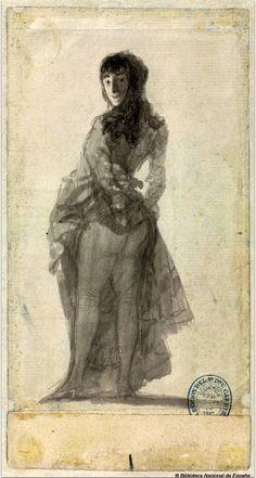 Francisco de Goya - Mujer joven levantándose la falda, 1796