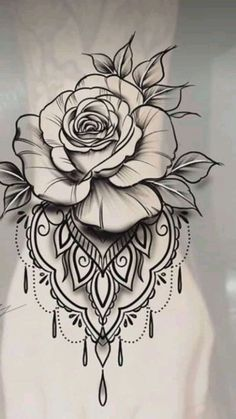 Fantastic (no title - Tattoo Zeichnungen - Rose Tattoo Forearm, Flower Wrist Tattoos, Lace Tattoo, Flower Tattoo Designs, Foot Tattoos, Body Art Tattoos, Small Tattoos, Female Thigh Tattoos, Mandala Tattoos For Women
