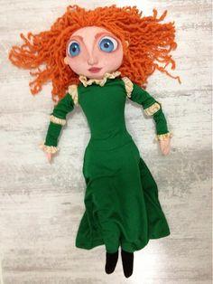 Merida by Mery❤️Jane Ronald Mcdonald, Ale, Doll Clothes, Disney Characters, Fictional Characters, Dolls, Merida, Disney Princess, Handmade