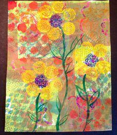 Several Gelli Plate Prints http://craftylink.com/group/creatiqueness-break-through-the-silence/forum/topics/gelli-plate-fun