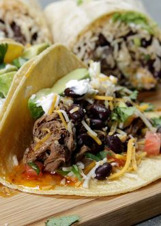 Barbacoa style and tacos