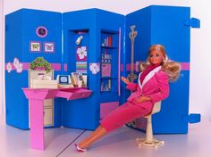 Day to Night Barbie in her Home/Office. This side was business and the other her bedroom. Still have this (of course).