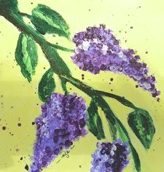 """Lilacs - acrylic on 6"""" canvas"""