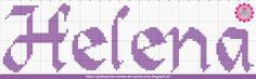 Gráficos de Nomes em Ponto Cruz: Nome Helena em Ponto Cruz