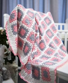 Crochet Baby Blanket 90x100cm  from MioLBoutique by DaWanda.com