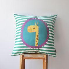 """NEW! Modern Nursery Pillow, Kids Pillows, Decorative Pillow, Throw Pillow, Teal Pillow 16"""" x 16"""""""
