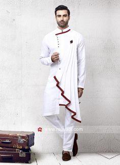 Beautiful White Color Pathani Set Rajwadi bestoffer eidoutfits eidmubarak pathanisuit designer stylish is part of Indian men fashion - Wedding Kurta For Men, Wedding Dresses Men Indian, Wedding Dress Men, Mens Indian Wear, Mens Ethnic Wear, Indian Groom Wear, Trendy Mens Fashion, Mens Fashion Suits, Stylish Men