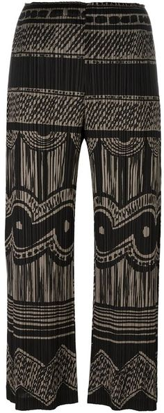 Pleats Please By Issey Miyake pleated print cropped trousers