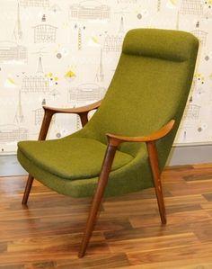 vintage westnofa green chair