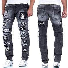 Cipo & Baxx Men's Jeans Leisure Pants Clubwear Biker Style … – Graffiti World Diy Fashion Shoes, Denim Fashion, Ripped Jeans Style, Denim Jeans Men, Big & Tall Jeans, Jeans Outlet, Robin Jeans, Clubwear, Jogging