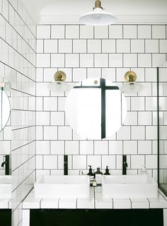 square tile / dark grout  Could This Be the Next Subway Tile? via @MyDomaine