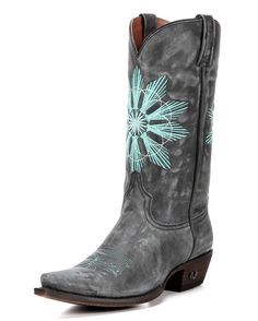 Make a wish. Turquoise star stitching bursts at front and back on Eight Second Angel's Cheyenne Boot. All-leather construction, handcrafted fit, and a modern snip toe make this boot versatile enough for almost any look. A cushioned insole and leather lining ensure all-day walking comfort. It features two signature Eight Second Angel details: a wing toe bug stitch and stud logo on the heel. Head out with confident style in the Cheyenne Boot.  <div><br></div><div>Eight Second Angel ...