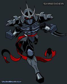 The Shredder ( Shadow Spawn Armor ) by ShadowNinjaMaster on DeviantArt Ninja Turtles Art, Teenage Mutant Ninja Turtles, Shredder Tmnt, Ninja Armor, Ninja Shadow, Batman Ninja, Dragon Armor, Cultura Pop, Comic Books Art