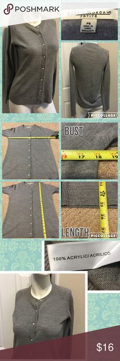 Listing Debbie Morgan Soft Cardigan Measurements are in photos. Normal wash wear, no flaws. D3  Ask about a bundle discount on all items that are not ⏰Flash Sale items! I ship everyday. I always package safely. If I run out of boxes, I will use priority bags over a polymailer bag. If you prefer to only receive this great item in a box, please let me know! Thanks! Debbie Morgan Sweaters Cardigans