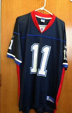 Vintage Drew Bledsoe Buffalo Bills Blue Authentic Football Jersey Size:XL