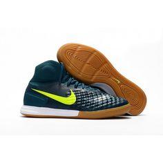 online store 62972 ad2a4 Chaussures Futsal et Foot en Salle Nike MagistaX Proximo II IC Deep Verte  Blanche Homme Solde