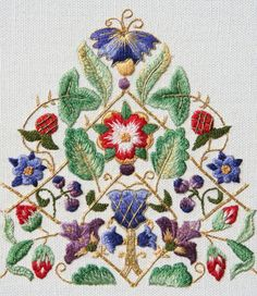 Wonderful Ribbon Embroidery Flowers by Hand Ideas. Enchanting Ribbon Embroidery Flowers by Hand Ideas. Crewel Embroidery Kits, Learn Embroidery, Silk Ribbon Embroidery, Embroidery Needles, Hand Embroidery Designs, Embroidery Patterns, Machine Embroidery, Embroidery Tattoo, Broderie Simple