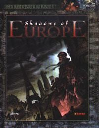 Shadows of Europe | Book cover and interior art for Shadowrun Third Edition - SR3, 3rd Ed, 3E, science fiction, sci-fi, scifi, scify, Roleplaying Game, Role Playing Game, RPG, FASA Games Inc., FASA Corporation, Ral Partha Europe Ltd. | Create your own roleplaying game books w/ RPG Bard: www.rpgbard.com | Not Trusty Sword art: click artwork for source