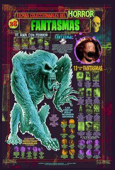 Fichas infográfica homenaje a los films de fantasmas. Dibujos y diseños míos. Encuentra más de mis creaciones en https://www.facebook.com/canadepablo