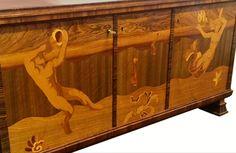 Deco Furniture, Furniture Design, Muebles Art Deco, Machine Age, Marquetry, Art Deco Fashion, Objects, Cabinet, Storage