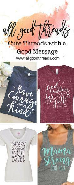 All Good Threads- Cute Threads With a Good Message. Christian shirts, Faith Based Shirts www.allgoodthreads.com