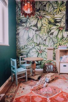 Bring the tropics to your home with our Banana Leaf mural! Details include:  Contemporary tropical, banana leaf wallpaper design Smooth, matte finish Tropical print wallpaper includes six panels  Photographs by Arianna Danielson andMaartje Vankelle