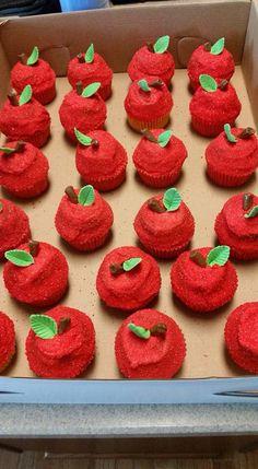 Apple Cupcakes for the teachers