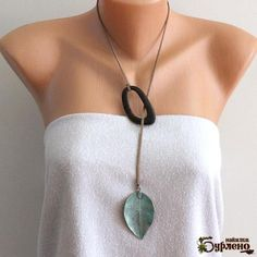 Pendant necklace with a rough coral, Boho necklace with an white coral pendant, bohemian necklace, unisex necklace, sea shell necklace - Asymmetrical necklace with a brass leaf and a wooden element - Seashell Necklace, Bohemian Necklace, Shell Necklaces, Boho Jewelry, Handmade Jewelry, Beaded Necklace, Fashion Jewelry, Pendant Necklace, Ceramic Jewelry
