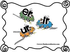 Just the mention of these letters and my kids pull back in their chairs, step on their imaginary brake, and make the 'Errrrrrrr' sound :)....Follow https://www.pinterest.com/rgarner1289/secret-stories-ideas-phonics-digraphs-reading/ for more!