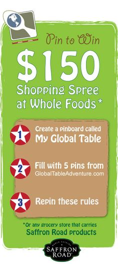 Global-Table-Adventure-and-Saffron-Road-Pinterest-Contest. More details here: http://globaltableadventure.com/2012/08/22/menu-palau-with-150-giveaway/