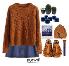 """#Romwe"" by credentovideos ❤ liked on Polyvore featuring Robe di Firenze, Polaroid and Shiseido"