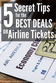 Saving Money tip!  Use these tricks to get the lowest price on airfare