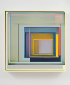 "Patrick Wilson, ""Solid Gold"", 2011, Acrylic on canvas, 17"" x 17"""