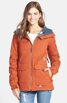 Volcom 'Gauge' Hooded Insulated Jacket (Juniors) available at #Nordstrom