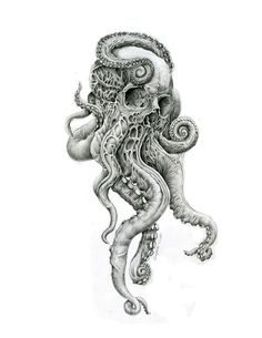 Design for tattoo – octopus tattoo Octopus Tattoo Design, Octopus Tattoos, Octopus Art, Skull Tattoos, Leg Tattoos, Body Art Tattoos, Tattoos For Guys, Sleeve Tattoos, Tattoo Designs