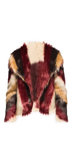 Chaser Faux Fur Jacket in Chevron / Manage Products / Catalog / Magento Admin