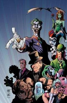 Gotham City Villains by J-Skipper Gotham Villains, Comic Villains, Best Villains, Comic Book Characters, Comic Character, Comic Books Art, Comic Art, Batman Bad Guys, I Am Batman