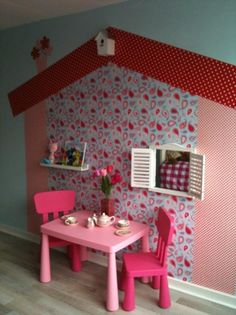Little girls room Decoration Creche, Home Daycare, Corner House, Little Girl Rooms, Play Houses, Classroom Decor, Kids And Parenting, Interior Design Living Room, Girls Bedroom