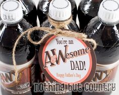 30 of the Best Fun Food & Gift Ideas for Father's Day! - Kitchen Fun With My 3 Sons clever fathers day gifts, diy gifts dad, dyi gifts for dad Homemade Fathers Day Gifts, Cool Fathers Day Gifts, Fathers Day Crafts, Happy Fathers Day, Gifts For Dad, Homemade Gifts, Food Gifts, Diy Gifts, Dads Root Beer