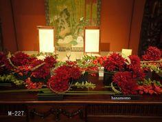 会場装花M-607(ホテル 結婚式場 レストラン)東京のウェディングフラワー専門店はなもも