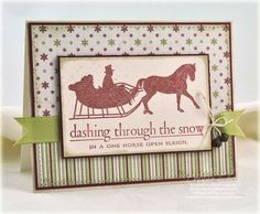 Dashing through the Snow card by Debbie Olson for Papertrey Ink (October 2011).