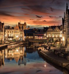 Gent/Ghent, Belgium.            For more great pins go to @KaseyBelleFox