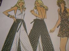 SALE Vintage 1970's McCall's 3477 Wrap-Around Jumpsuit Sewing Pattern, Size Small and Medium in One Envelop