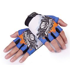 King Star Half Finger Fingerless Cycling Mountain Bike Racing Bicycle Riding Biking Gloves Men Women Work Gloves >>> Details can be found by clicking on the image.