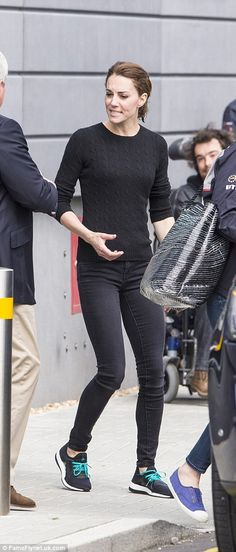 Catherine, Duchess of Cambridge went for a casual look following a high speed boat race with the Land Rover BAR team, who are challenging for the 2017 America's Cup, on May 20, 2016 in Portsmouth, England.